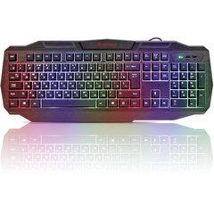 Клавиатура проводная DEFENDER Ultra HB-330L, USB, 104 клавиши, с подсветкой, черная, 45330