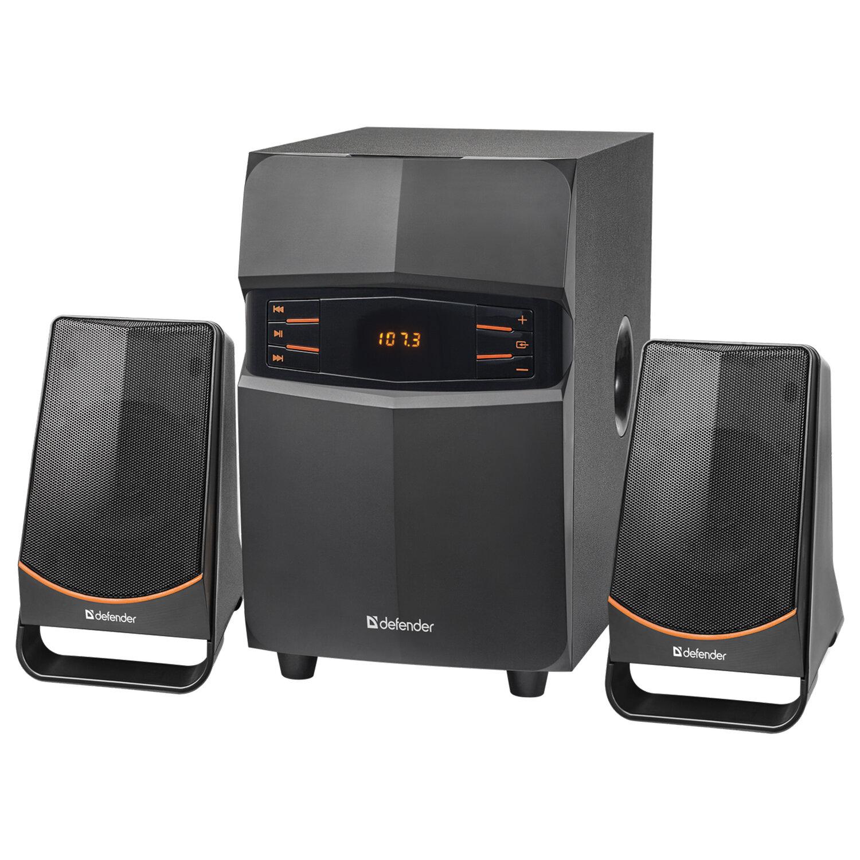 Колонки компьютерные DEFENDER X181, 2.1, 18 Вт, Bluetooth, FM-тюнер, пластик, черные, 65181