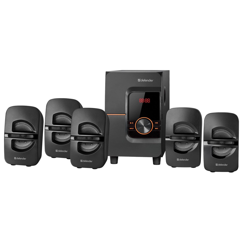 Колонки компьютерные DEFENDER Cinema 52, 5.1, 52 Вт, Bluetooth, FM-тюнер, пластик, черные, 65152