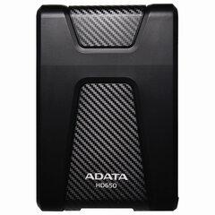 "Внешний жесткий диск A-DATA DashDrive Durable HD650 2TB, 2.5"", USB 3.0, черный, AHD650-2TU31-CBK"