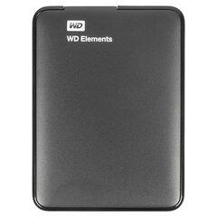 """Внешний жесткий диск WD Elements Portable 1TB, 2.5"""", USB 3.0, черный, WDBUZG0010BBK-WESN"""