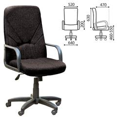 """Кресло офисное """"Менеджер"""", ткань, монолитный каркас, черное С-11"""
