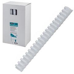 Пружины пластиковые для переплета, КОМПЛЕКТ 50 шт., 38 мм (для сшивания 281-340 л.), белые, FELLOWES