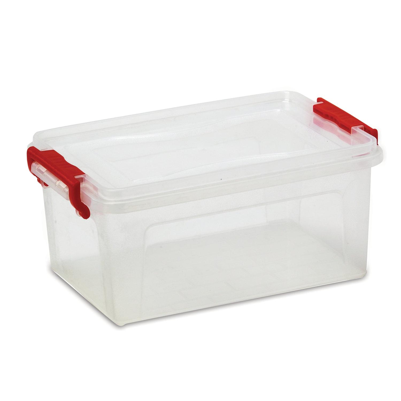 Ящик 25 л, с крышкой на защелках, для хранения, 24х48х32 см, пластиковый, прозрачный, IDEA, М2867
