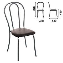 """Стул для столовых, кафе, дома """"Вереск"""", черный каркас, кожзам черный, СМ7/6-05 К-01"""