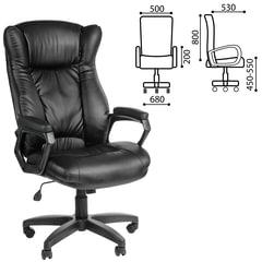 """Кресло офисное """"Адмирал"""", кожзам, черное"""