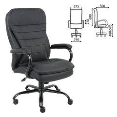 """Кресло офисное BRABIX PREMIUM """"Heavy Duty HD-001"""", усиленное, НАГРУЗКА до 200 кг, экокожа"""