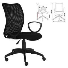 Кресло CH-599AXSN, с подлокотниками, черное