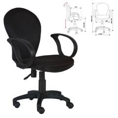 Кресло CH-687AXSN, с подлокотниками, черное