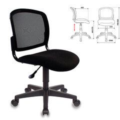 Кресло оператора CH-296NX без подлокотников, черное