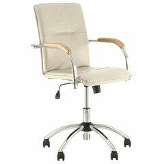 """Кресло """"Samba GTP"""", деревянные накладки, хром, кожзам бежевый"""