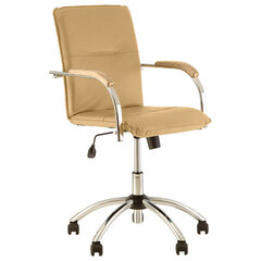 """Кресло """"Samba GTP"""", деревянные накладки, хром, кожзам, песочный"""