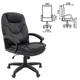 """Кресло офисное BRABIX """"Trend EX-568"""", экокожа, черное"""