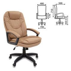 """Кресло офисное BRABIX """"Trend EX-568"""", экокожа, бежевое"""