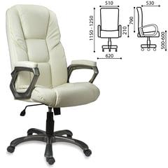 """Кресло офисное BRABIX """"Titan EX-579"""", экокожа, бежевое"""