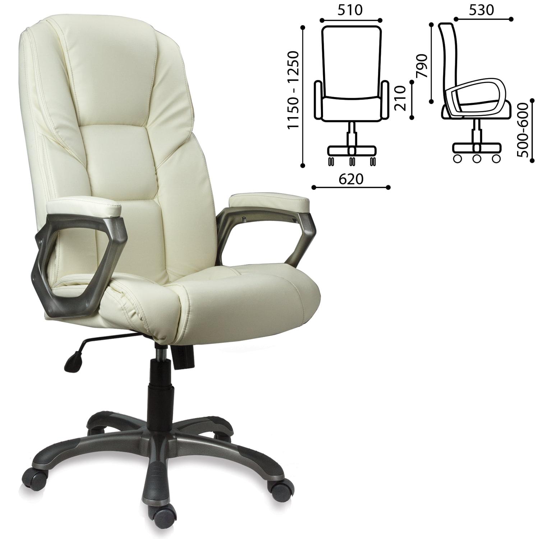 """Кресло офисное BRABIX """"Titan EX-579"""", экокожа, бежевое, 531399"""