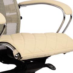 """Накладка на сиденье для кресла """"SAMURAI"""", кожа, бежевая"""
