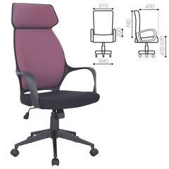 """Кресло офисное BRABIX """"Galaxy EX-519"""", ткань, черное/терракотовое"""