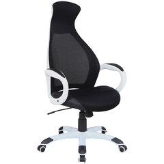 """Кресло офисное BRABIX PREMIUM """"Genesis EX-517"""", пластик белый, ткань/экокожа/сетка черная, 531573"""