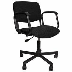 Кресло КР08, с подлокотниками, черное