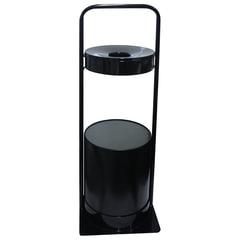 Урна металлическая уличная с пепельницей, 781х290х290 мм, 15 литров, цвет черный, СЛП3-250