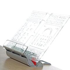 """Подставка для книг ДЭМИ """"Трафарет"""", пластиковая, серая"""