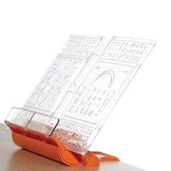 """Подставка для книг ДЭМИ """"Трафарет"""", пластиковая, оранжевая"""