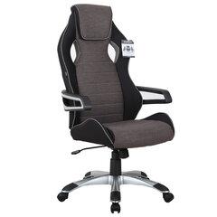 """Кресло компьютерное BRABIX """"Techno GM-002"""", ткань, черное/серое, вставки белые, 531815"""