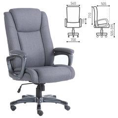 """Кресло офисное BRABIX """"Solid HD-005"""", нагрузка до 180 кг, ткань, серое"""