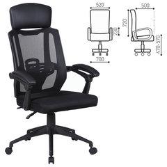 """Кресло офисное BRABIX """"Nexus ER-401"""", синхромеханизм, подголовник, черное"""