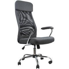 """Кресло офисное BRABIX """"Flight EX-540"""", хром, ткань, сетка, серое, 531848"""