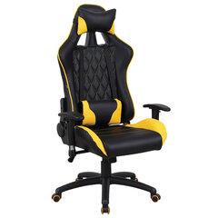 """Кресло компьютерное BRABIX """"GT Master GM-110"""", две подушки, экокожа, черное/желтое, 531927"""
