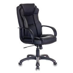 Кресло офисное CH-839/BLACK, экокожа, черное