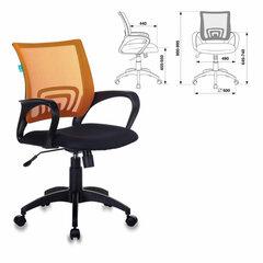 Кресло CH-695N/OR/TW-11, с подлокотниками, сетка, черное/оранжевое