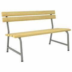 """Скамья НАДЕЖДА """"Ш-402"""", 1300х650х805 мм, каркас металлический серый, сиденье/спинка дерево"""