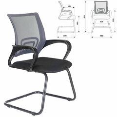 """Кресло для приемных и переговорных BRABIX """"Fly CF-100"""", серое/черное, 532089"""