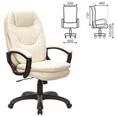 "Кресло офисное BRABIX PREMIUM ""Trend EX-568"", экокожа, бежевое, 532102"