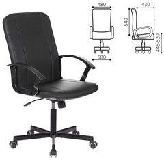 """Кресло офисное BRABIX """"Simple EX-521"""", компактная упаковка, экокожа, черное, 532103"""