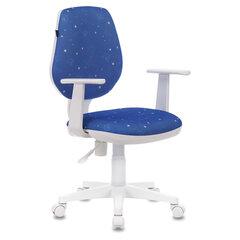 """Кресло BRABIX """"Fancy MG-201W"""", с подлокотниками, пластик белый, с рисунком """"Cosmos"""", 532408"""