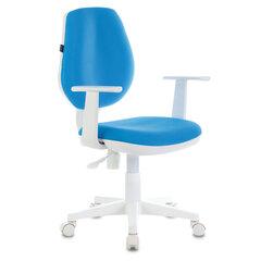 """Кресло BRABIX """"Fancy MG-201W"""", с подлокотниками, пластик белый, голубое, 532411"""