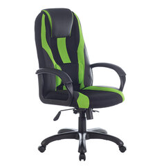 """Кресло компьютерное BRABIX PREMIUM """"Rapid GM-102"""", НАГРУЗКА 180 кг, экокожа/ткань, черное/зеленое, 532419"""