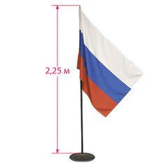 Флаг России напольный с флагштоком, высота 2,25 м, полотно: 90х135 см