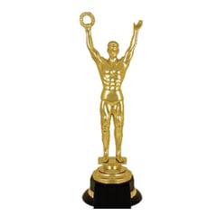 """Приз """"Оскар"""" пластиковый (100х100х305 мм), основание пластик черный, """"золото"""""""