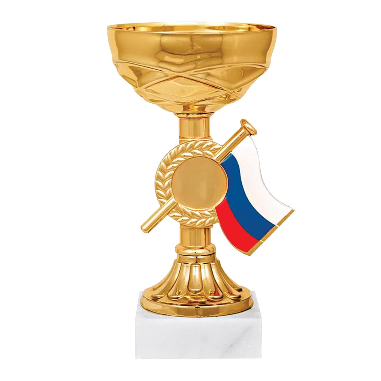 """Кубок металлический """"Гелла""""(80х80х150 мм), основание мрамор, """"золото"""""""