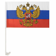 Флаг России автомобильный 30х45 см, с гербом РФ, BRAUBERG, 550179