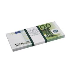 """Деньги шуточные """"100 евро"""", упаковка с европодвесом"""