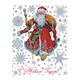 """Украшение для окон и стекла декоративное """"Дед Мороз с мешком подарков"""", 30х38 см, ПВХ"""