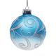 """Шар елочный стеклянный """"Снежные узоры"""", диаметр 8 см, с рисунком глиттером (матовый)"""