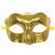 """Маска карнавальная """"Блестящая золотая"""", 15,5х9х7,5 см, ПВХ, с атласной лентой"""