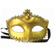 """Маска карнавальная """"Золотая"""", 11,7х17х7,5 см, ПВХ, с атласной лентой"""